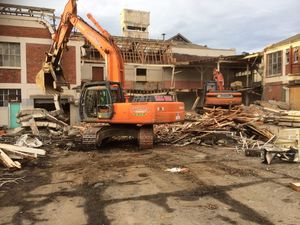 Demolition work at Cerebos Greggs Dunedin