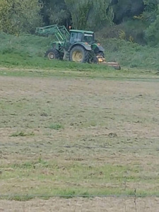 Doug Hall mowing Brighton Pony Club grounds